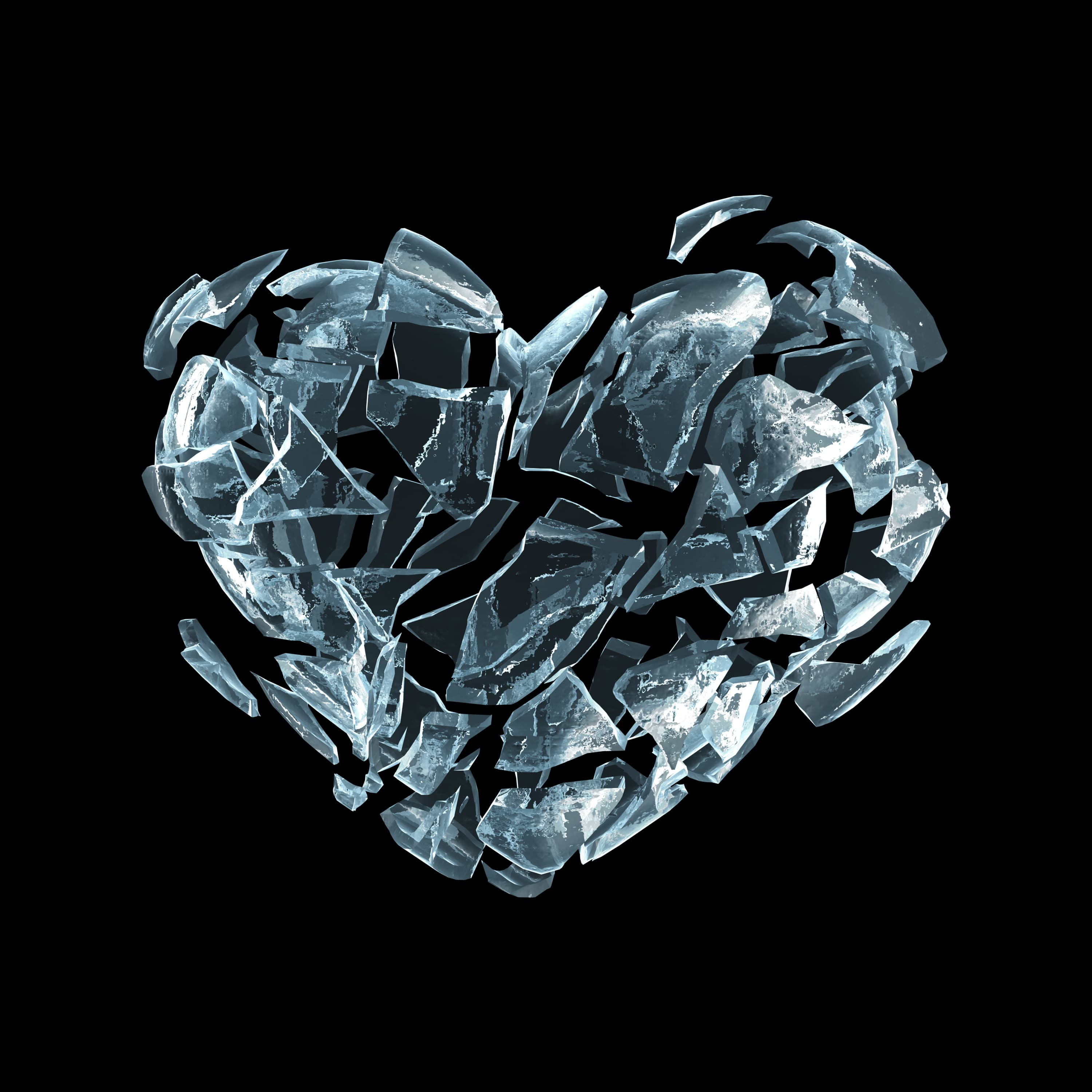 Broken ice heart